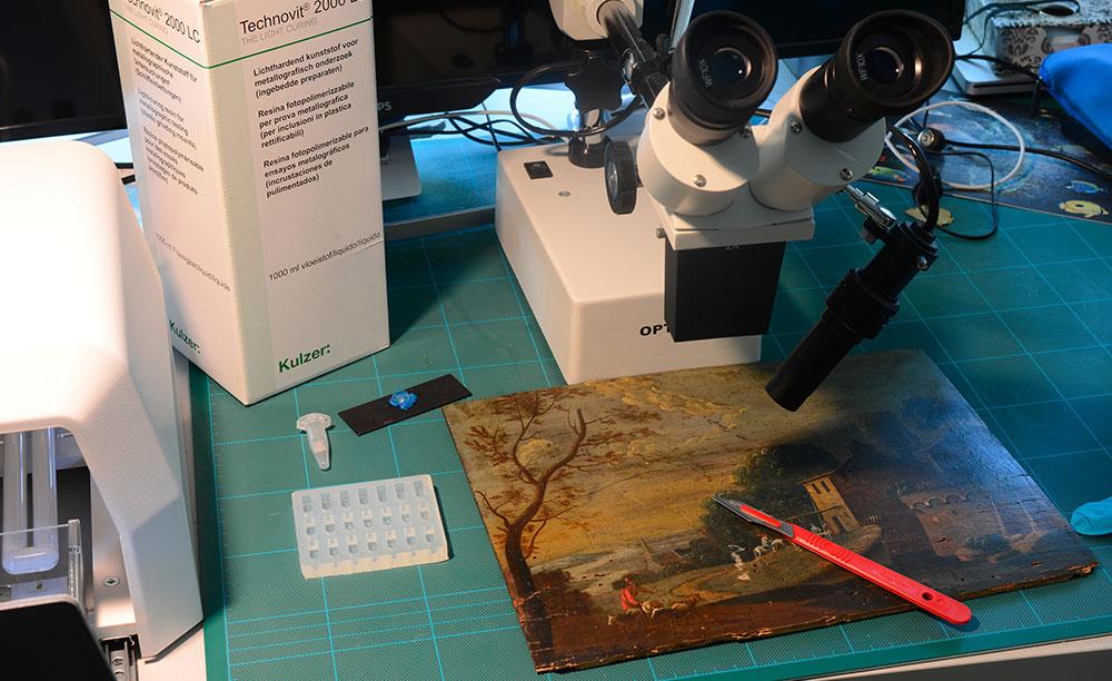 Inglobamento resina microprelievicttile